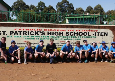 Churchie School Group at St Patricks High School Iten