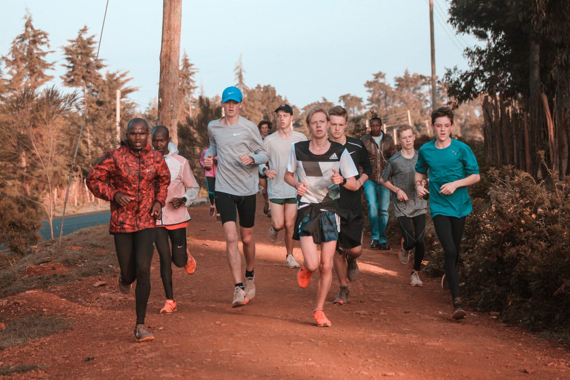 New Zealand High School Runners in Kenya