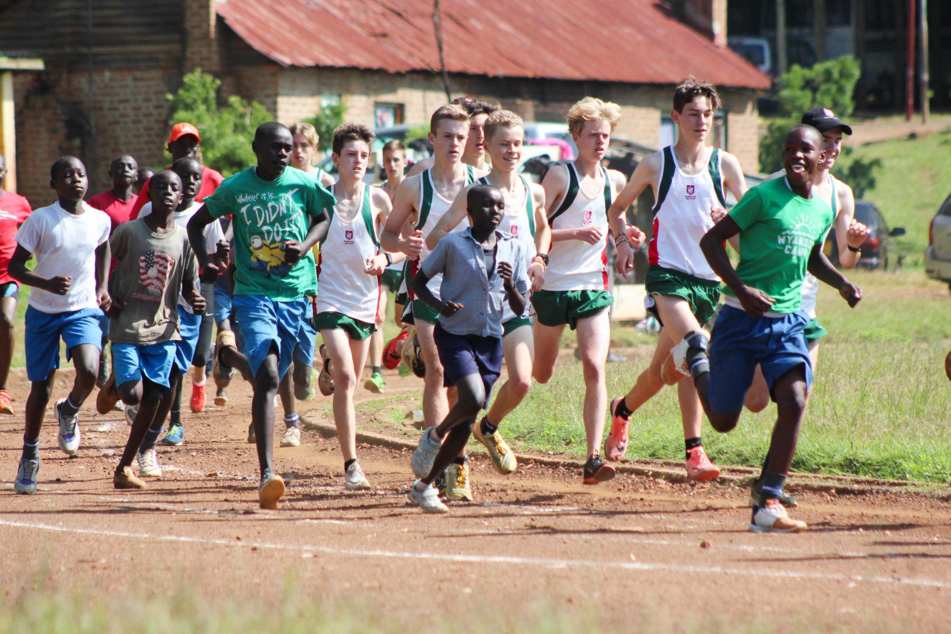 Race Against Kenyan School Runners